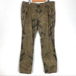 JOES JEANS cropped skinny pants 29 green camo b112